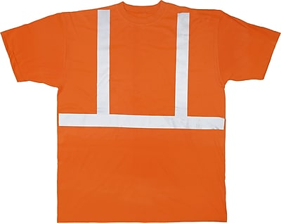 Mutual Industries ANSI Class 2 Tee Shirt, Orange, 3XL