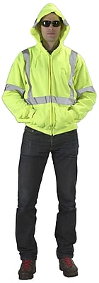 Mutual Industries ANSI Class 3 Hoodie, Lime, Large