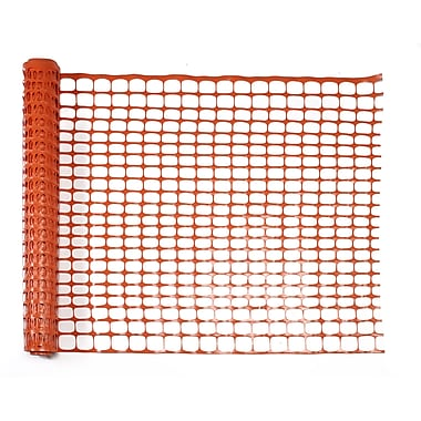 Mutual Industries Heavy-Duty Warning Sno-Guard Barrier Fence, 4' x 50', Orange
