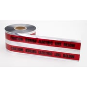 "Mutual Industries ""Electric Line"" Underground Detectable Tape, 6"" x 1000', Red"