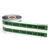 "Mutual Industries ""Storm Drain"" Underground Detectable Tape, 6"" x 1000', Green"