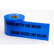 "Mutual Industries ""Water Line"" Underground Marking Tape, 6"" x 1000', Blue"