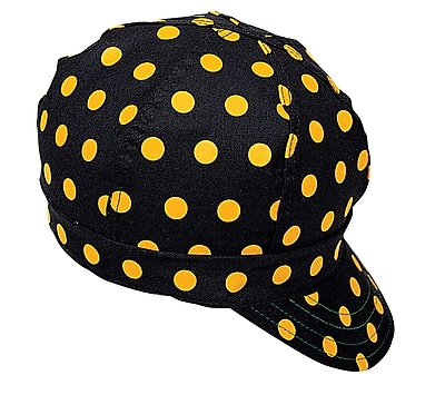 Mutual Industries Kromer A32 Dot Style Hard Bill Cap, Black/Yellow, One Size