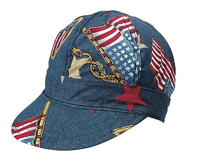 Mutual Industries Kromer C349 Denim Flag Style Hard Bill Cap, One Size