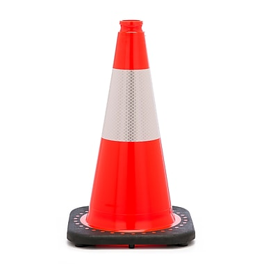 Mutual Industries 3 lbs. Reflective Traffic Cone, 18