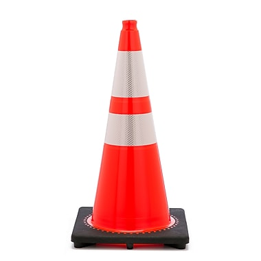Mutual Industries 10 lbs. Reflective Traffic Cone, 28