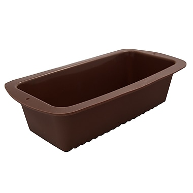 Marathon Management Silicone Loaf Pan, Brown