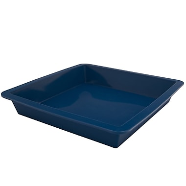 Marathon Management Silicone Square Cake Pan, Blue