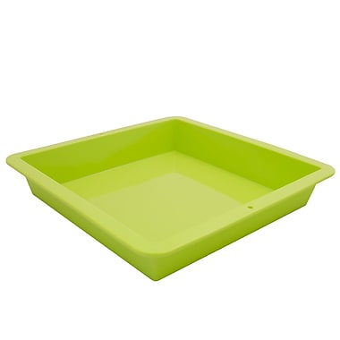 Marathon Management Silicone Square Cake Pan, Green