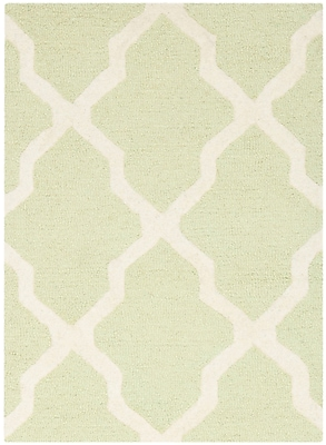 Safavieh Zoey Cambridge Wool Pile Area Rug, Light Green/Ivory, 2' x 3'