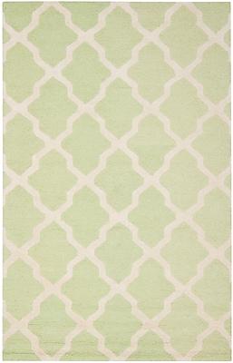 Safavieh Zoey Cambridge Wool Pile Area Rug, Light Green/Ivory, 9' x 12'