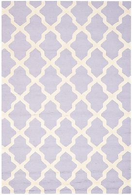 Safavieh Zoey Cambridge Wool Pile Area Rug, Lavander/Ivory, 5' x 8'