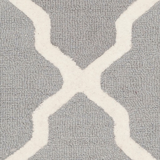 Safavieh Zoey Cambridge Wool Pile Area Rug Silver Ivory