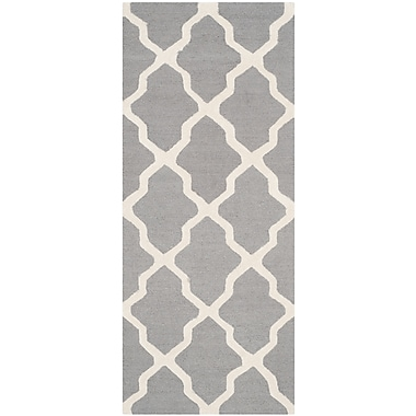 Safavieh Zoey Cambridge Silver/Ivory Wool Pile Area Rugs