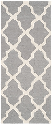 Safavieh Zoey Cambridge Wool Pile Area Rug, Silver/Ivory, 2' 6