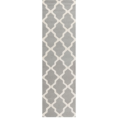 Safavieh Zoey Cambridge Wool Pile Area Rug, Silver/Ivory, 2' 6