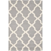 "Safavieh Cambridge Area Rug, 48"" x 72"", Silver/Ivory (CAM121D-4)"