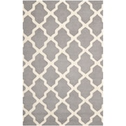 "Safavieh Cambridge Area Rug, 60"" x 96"", Silver/Ivory (CAM121D-5)"