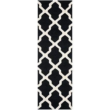 Safavieh Zoey Cambridge Black/Ivory Wool Pile Area Rugs