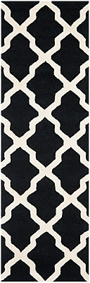 Safavieh Zoey Cambridge Wool Pile Area Rug, Black/Ivory, 2' 6