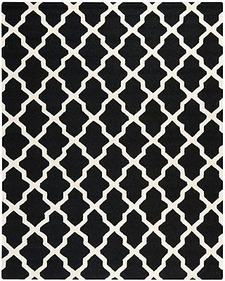 Safavieh Zoey Cambridge Wool Pile Area Rug, Black/Ivory, 8' x 10'