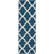 Safavieh Zoey Cambridge Navy Blue/Ivory Wool Pile Area Rugs