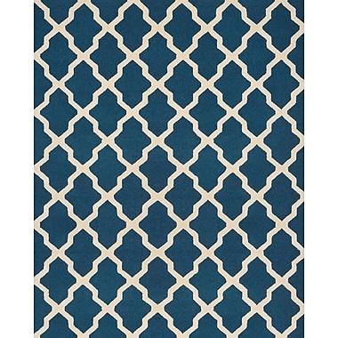 Safavieh Zoey Cambridge Wool Pile Area Rug, Navy Blue/Ivory, 7' 6