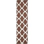 Safavieh Zoey Cambridge Dark Brown/Ivory Wool Pile Area Rugs