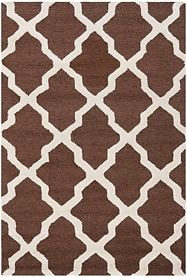 Safavieh Zoey Cambridge Wool Pile Area Rug, Dark Brown/Ivory, 3' x 5'