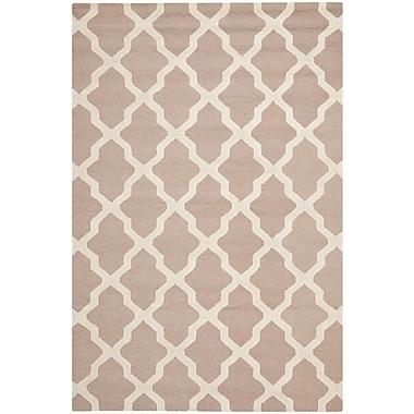 Safavieh Zoey Cambridge Wool Pile Area Rug, Beige/Ivory, 6' x 9'