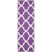 Safavieh Zoey Cambridge Purple/Ivory Wool Pile Area Rugs