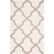 Safavieh Zoey Cambridge Wool Pile Area Rug, Ivory/Beige, 3' x 5'