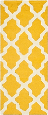 Safavieh Zoey Cambridge Wool Pile Area Rug, Gold/Ivory, 2' 6