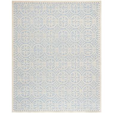 Safavieh Wyatt Cambridge Wool Pile Area Rug, Light Blue/Ivory, 7' 6
