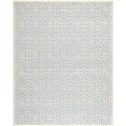 "Safavieh Cambridge Area Rug, 91"" x 115"", Light Blue/Ivory (CAM123A-810)"