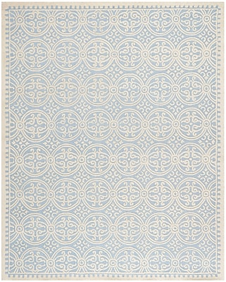 Safavieh Wyatt Cambridge Wool Pile Area Rug, Light Blue/Ivory, 7' 6