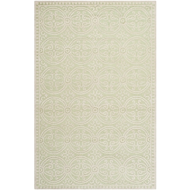 Safavieh Wyatt Cambridge Wool Pile Area Rug, Light Green/Ivory, 5' x 8'