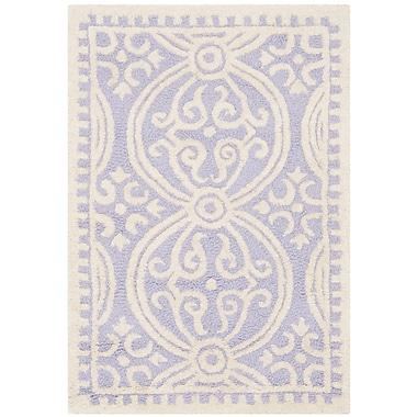 Safavieh Wyatt Cambridge Wool Pile Area Rug, Lavender/Ivory, 2' x 3'