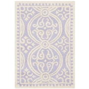 Safavieh Wyatt Cambridge Lavender/Ivory Wool Pile Area Rugs