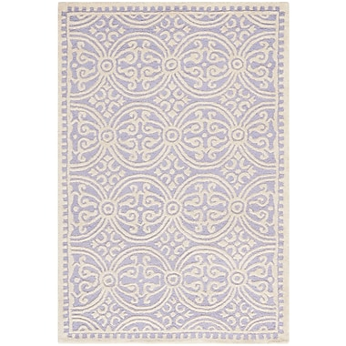 Safavieh Wyatt Cambridge Wool Pile Area Rug, Lavender/Ivory, 3' x 5'