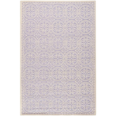 Safavieh Wyatt Cambridge Wool Pile Area Rug, Lavender/Ivory, 5' x 8'