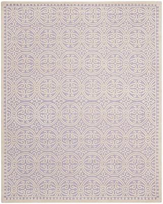Safavieh Wyatt Cambridge Wool Pile Area Rug, Lavender/Ivory, 9' x 12'