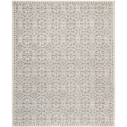 Safavieh Wyatt Cambridge Wool Pile Area Rug, Silver/Ivory, 5' x 8'