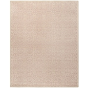 Safavieh Wyatt Cambridge Wool Pile Area Rug, Light Pink/Ivory, 9' x 12'
