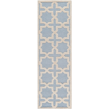 Safavieh Trinity Cambridge Wool Pile Area Rug, Light Blue/Ivory, 2' 6
