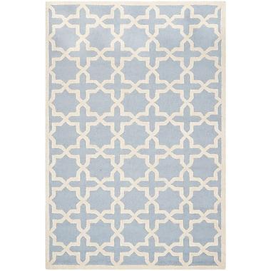 Safavieh Trinity Cambridge Wool Pile Area Rug, Light Blue/Ivory, 6' x 9'