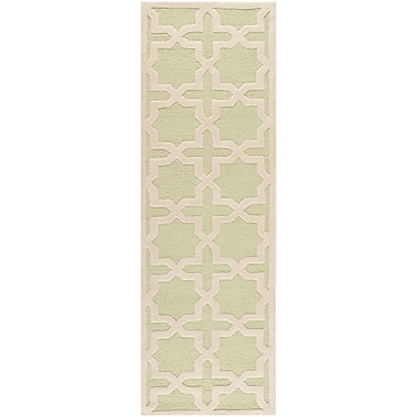 Safavieh Trinity Cambridge Wool Pile Area Rug, Light Green/Ivory, 2' 6