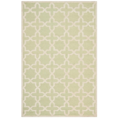 Safavieh Trinity Cambridge Wool Pile Area Rug, Light Green/Ivory, 6' x 9'