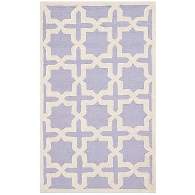 Safavieh Trinity Cambridge Wool Pile Area Rug, Lavender/Ivory, 4' x 6'