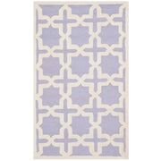 Safavieh Trinity Cambridge Lavender/Ivory Wool Pile Area Rugs